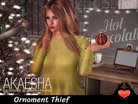 Bento Pose - Ornament Thief pose (includes Ornament prop)