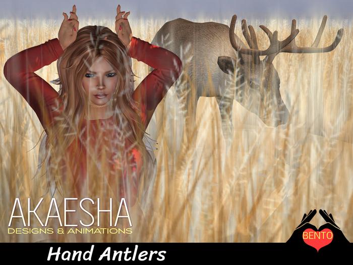 Bento Pose - Hand Antlers like a reindeer