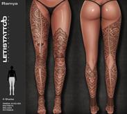 Letis Tattoo :: Ramya :: Leg Tattoos Bakes On Mesh & Legacy Maitreya and more Appliers