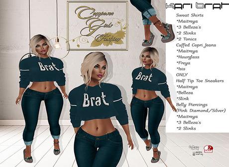 !CGF-*Kari Brat* Jeans Outfit