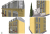 Collage exterior buttercup townhouse