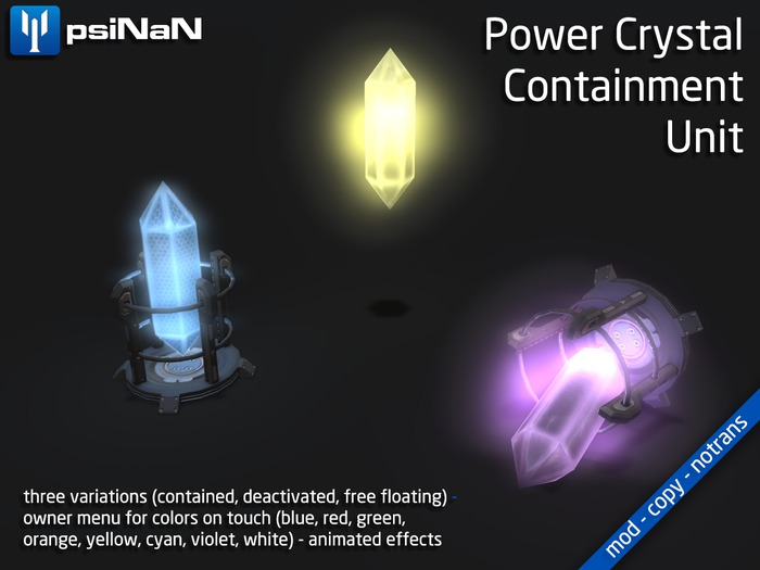 [psiNaN] Power Crystal Containment Unit