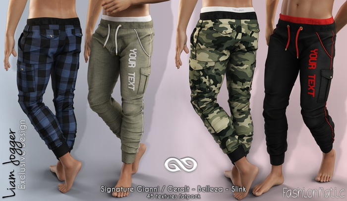 FashionNatic - LIAM JOGGER  FATPACK COLORS PANTS