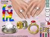 [SuXue Mesh] FATPACK Alara Bento & Classic UnRigged Wedding Rings & Bands Hud Resize Marriage proposal pose 2 GAYS