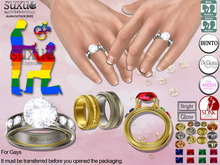 [SuXue Mesh] FATPACK Alara Bento & Classic UnRigged Wedding Rings & Bands Hud Resize Marriage proposal pose 2 GAYS