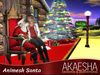 Santa Animesh - Animated Santa interacts with you when you sit on his lap!