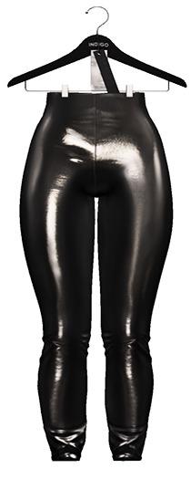 Indigo - Devyn Patent Leggings In Grey