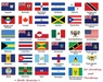 Flag Box North America 35 Countries and Territories