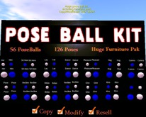 Poseball kit with dances,sitting, animations and Furnitures