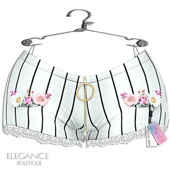 "Elegance Boutique -Short - LinedBlack  -  ""Anka"" - Maitreya / Slink / Belleza"