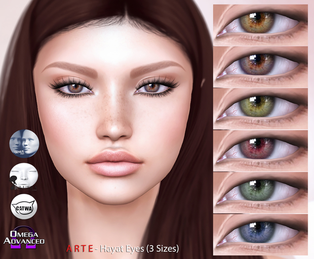 A R T E - Hayat Eyes [LeLutka, CATWA, Omega]