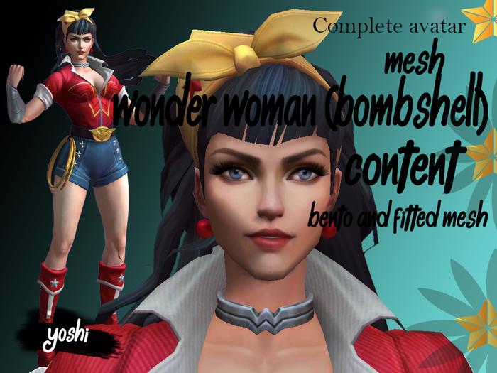 Avatar mesh Worden Woman Bombshell (Bento/Fitted mesh)