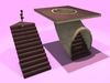 """1 prim full perm """"Changeable Prism Stairs Walkable"""" sculpt map, any texture"""