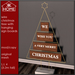 KK HOME - WIRE CHRISTMAS TREE WITH HANGING SIGN BOARDS - We wish you a merry Christmas, Modern Christmas Tree