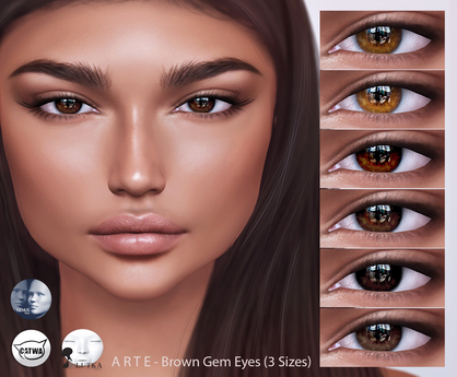 A R T E - Brown Gem Eyes [CATWA, LeLutka, GENUS] DEMO