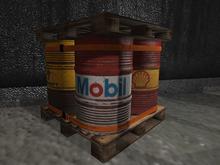 Realistic Barrels Pallet Mesh - 4 Prim