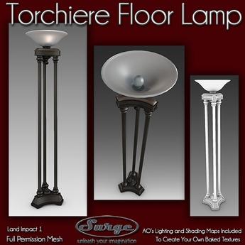 Torchiere 3 Pole Floor Lamp