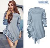 TETRA - Hara frill sweater (Sky)