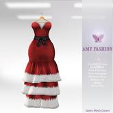 =AF= Santa Mesh Gown - Red