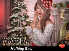 Bento Pose - Holiday Bow (includes Holiday Bow for head)