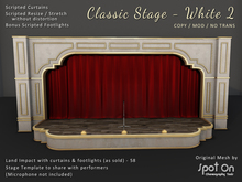 *SO* Classic Stage - WHITE 2 / Red Curtains