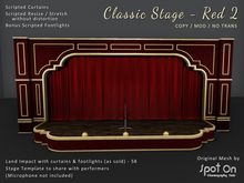 *SO* Classic Stage - RED 2 / Red Curtains