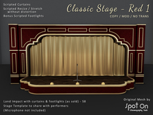 *SO* Classic Stage - RED 1 / Gold Curtains