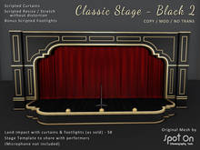 *SO* Classic Stage - BLACK 2 / Red Curtains