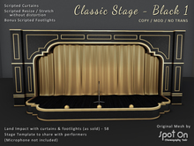 *SO* Classic Stage - BLACK 1 / Gold Curtains