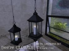 [we're CLOSED] metal lanterns set