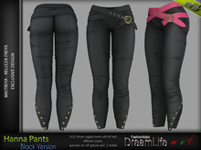 Hanna Female Pants BLACK - MESH - Maitreya Lara, Belleza Freya - FashionNatic