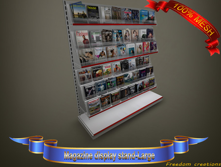 Magazine display stand(large)-Freedom creations