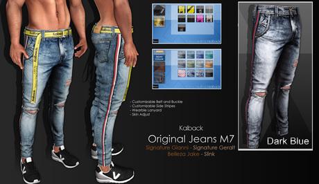 <Kalback> Original Jeans M7 Dark Blue