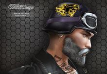 MotoDesign - Biker Helmet - Gold Skull