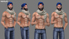 Navajo - BENTO Static Male Pose Pack 4