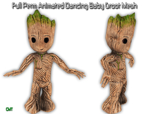 Full Perm Animated Wave Dancing Baby Groot Mesh