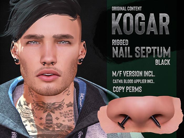 KOGAR / Nail Septum / Black [BENTO]