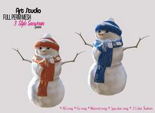 Gift! Snowman - FULL PERM - Art Studio