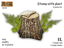Stump with plant - Old World - Garden gecorations