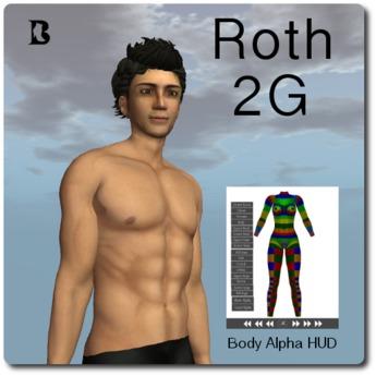 Mesh Roth 2G Bento Hands Head & Body Alpha HUD