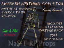 Genuine Animesh Writhing Skeleton Dungeon & Graveyard decoration