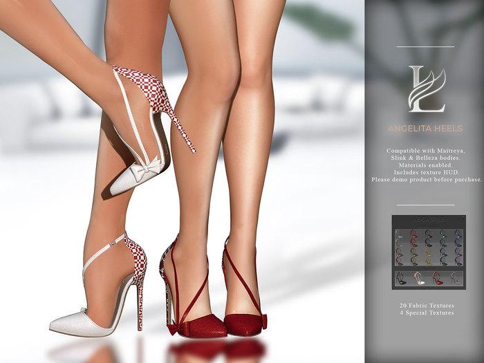 LeCastle - Angelita Heels / Maitreya / Slink / Belleza / HUD