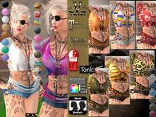 V-Twins- Biker Clothes - High Octane Casual Version **MESH Outfit [Mesh Bodies Compatible] Maitreya Slink Belleza