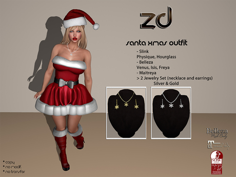 *ZD* Santa Xmas Outfit