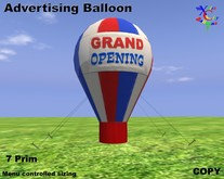 Ballon publicitaire - Ouverture officielle - Red White & Blue - COPIE - Xntra Ballons Ville