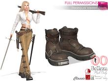 MI962889 Steampunk Western Boots