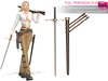 Full Perm Steampunk Drawable Niddle Sword and Scabbard