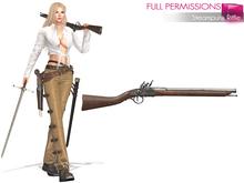 Full Perm Mesh Steampunk Rifle