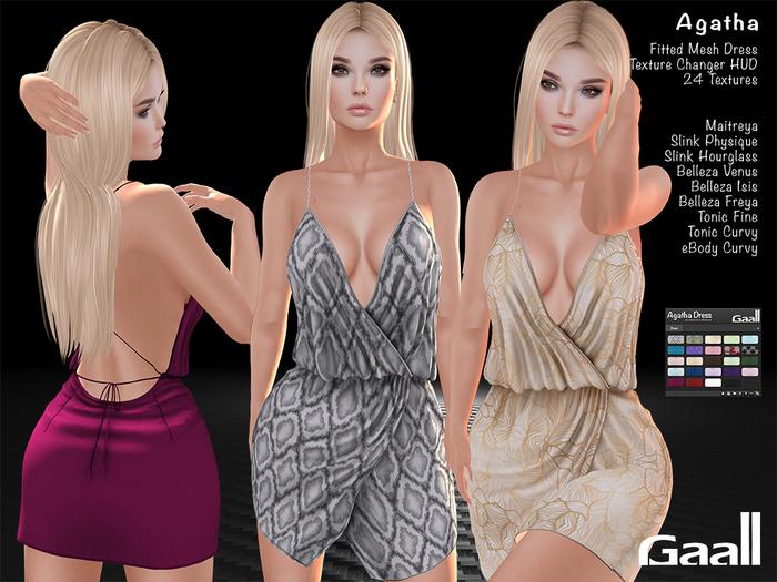 Gaall Agatha Dress - Maitreya, Slink (2), Belleza (3), Tonic (2) and eBody Curvy - 24 tex