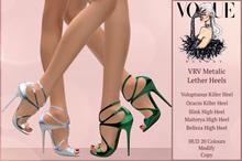 PROMO! VRW Metallic Leather High Heel Maitreya Belleza Slink Ocacin